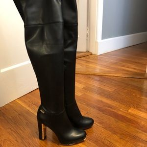 ee1b5881b21 Calvin Klein Shoes - Calvin Klein Pammie Leather Over-The-Knee Boot